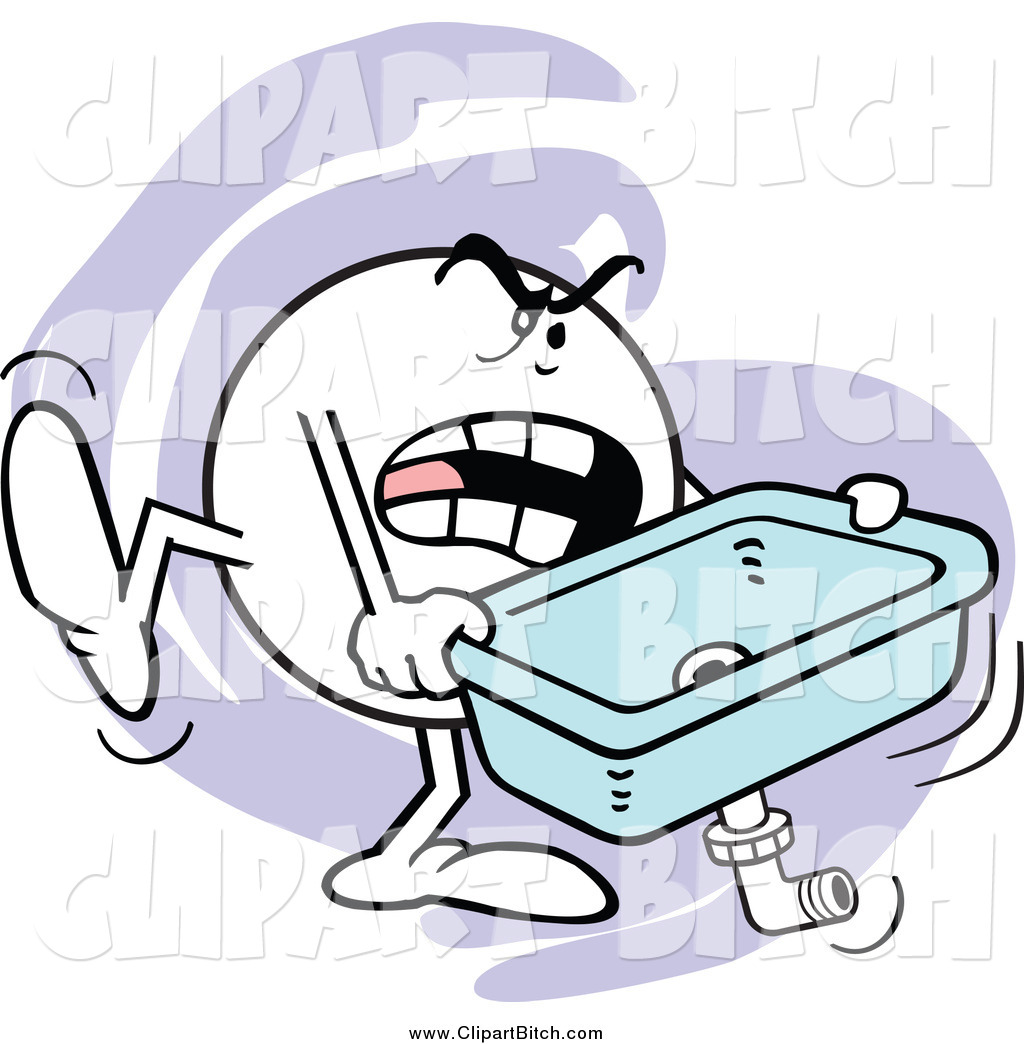 Clip Vector Cartoon Art Of A Mad Moodie Character Carrying A Kitchen Sink By Johnny Sajem 300