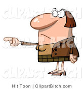 Clip Art of a Mad Teacher Pointing by Hit Toon