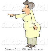 Clip Art of a Mad Woman Pointing Her Finger at Someone by Djart