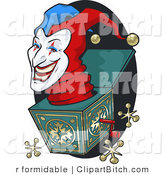 Clip Art of a Mean Jack in the Box by R Formidable