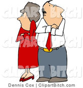 Clip Art of a Stubborn Couple by Djart
