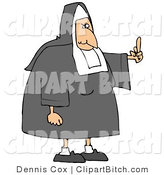 Clip Art of a White Lady Catholic Nun in Uniform, Flipping Someone off for Making Fun of Her by Djart