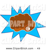 Clip Art of an African American Man's Hand Punching Outward by Prawny