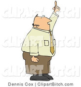 Clip Art of an Upset Middle Aged Caucasian Business Man Holding His Hand up in the Air and Flipping Someone off by Djart