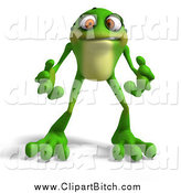 Clip Vector Art of a 3d Angry Frog by Ralf61
