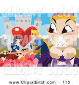 Clip Vector Art of a Furious Stepmother Watching Snow White Wed Prince Charming by Mayawizard101