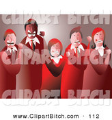 Clip Vector Art of a Group of Mad Business Team Clenching Their Fists by Prawny