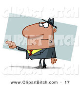 Clip Vector Art of a Guy Pointing the Blame to Someone by Hit Toon