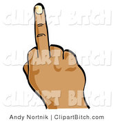 Clip Vector Art of an Angry Person's Hand Flipping Someone off by Andy Nortnik