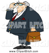 July 22nd, 2014: Clip Vector Cartoon Art of a Angry Caucasian Male Attorney by Djart