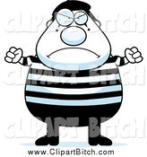 June 15th, 2014: Clip Vector Cartoon Art of a Angry Chubby Mime Holding up Fists by Cory Thoman