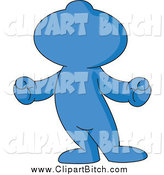 Clip Vector Cartoon Art of a Blue Toon Guy by Yayayoyo