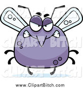 Clip Vector Cartoon Art of a Chubby Angry Mosquito by Cory Thoman