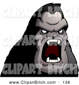 Clip Vector Cartoon Art of a Furious Ape Screaming at Something by Cory Thoman