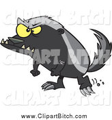 November 5th, 2014: Clip Vector Cartoon Art of a Furious Honey Badger by Toonaday