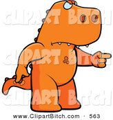 Clip Vector Cartoon Art of a Grumpy Mad T Rex Angrily Pointing by Cory Thoman