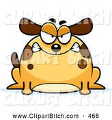Clip Vector Cartoon Art of a Mad Chubby Dog by Cory Thoman