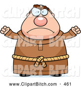 Clip Vector Cartoon Art of a Mad Chubby Monk by Cory Thoman