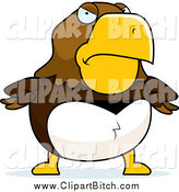 September 14th, 2014: Clip Vector Cartoon Art of a Mad Hawk with Hands on His Hips by Cory Thoman