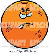 Clip Vector Cartoon Art of a Mad Navel Orange Character by Cory Thoman