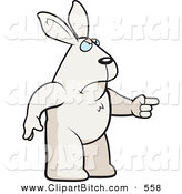 Clip Vector Cartoon Art of a Mad Rabbit Angrily Pointing to the Right by Cory Thoman