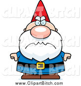 July 18th, 2014: Clip Vector Cartoon Art of a Mad Short Gnome by Cory Thoman