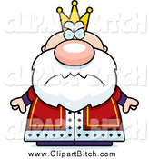 Clip Vector Cartoon Art of a Mad Short Royal King by Cory Thoman