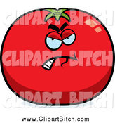June 29th, 2014: Clip Vector Cartoon Art of a Mad Tomato Character by Cory Thoman
