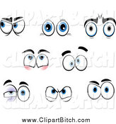 May 19th, 2014: Clip Vector Cartoon Art of Emotional Eyes by Vector Tradition SM