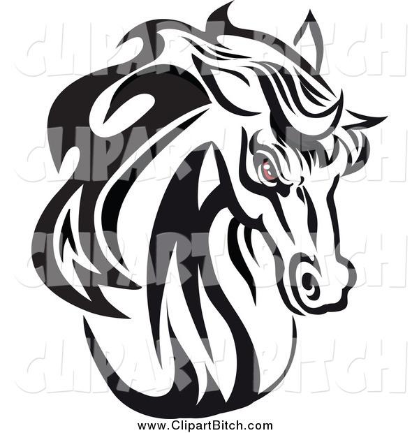 red and white horse head logo car interior design. Black Bedroom Furniture Sets. Home Design Ideas