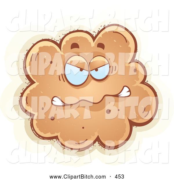 Clip Vector Cartoon Art of a Mad Fart Character