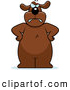 Clip Vector Cartoon Art of a Big Angry Brown Dog Standing with His Hands on His Hips by Cory Thoman