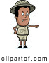 Clip Vector Cartoon Art of a Black Safari Boy Pointing Angrily at Someone by Cory Thoman
