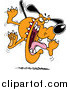 Clip Vector Cartoon Art of a Mad Attack Dog by Toonaday