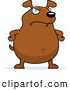Clip Vector Cartoon Art of a Mad Brown Dog Standing with His Hands on His Hips by Cory Thoman