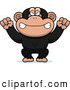 Clip Vector Cartoon Art of a Mad Monkey by Cory Thoman