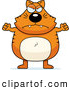 Clip Vector Cartoon Art of a Mad Plump Orange Cat Waving His Fists by Cory Thoman