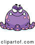 Clip Vector Cartoon Art of a Mad Purple Octopus by Cory Thoman
