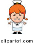 Clip Vector Cartoon Art of a Mad Red Haired Sailor Girl by Cory Thoman