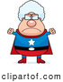 Clip Vector Cartoon Art of a Stern Mad Plump Super Granny by Cory Thoman
