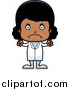 Clip Vector Cartoon Art of an Angry Black Girl Doctor by Cory Thoman