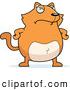 Clip Vector Cartoon Art of an Upset Orange Cat with His Hands on His Hips by Cory Thoman